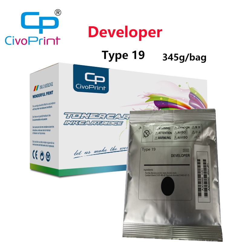 Civoprint 2 шт черный разработчик порошок тип 19 для Ricoh 1015 1018 1018D 220 270 совместимый AF1015 AF1018 AF1018D