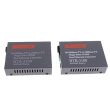 10/100M Singlemode 25KM Simplex SC Fiber Optic to RJ45 Ethernet Converter EU Transmitter and Receiver Set