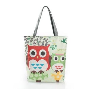 New Style Printed Zipper Beach Shoulder Women's satchels Canvas Fashion Women Animal Bag