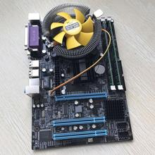 Computer Motherboard With Quad Core 2.66G CPU i5 Core + 4G Memory + Fan Lot HK