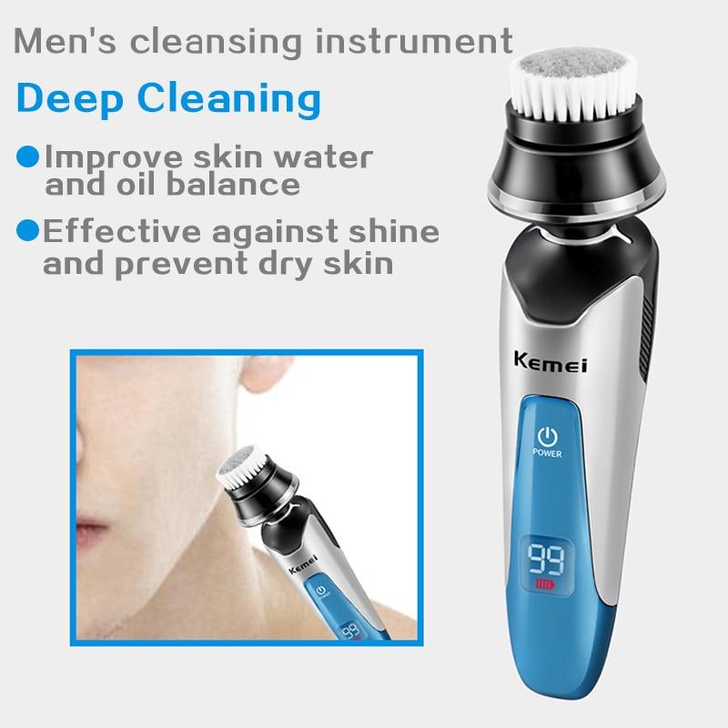 Kemei electric shaver men's razor multi-function trimmer LED display men's 4-in-1 razor 3 cutter head beard trimming tool 5 enlarge