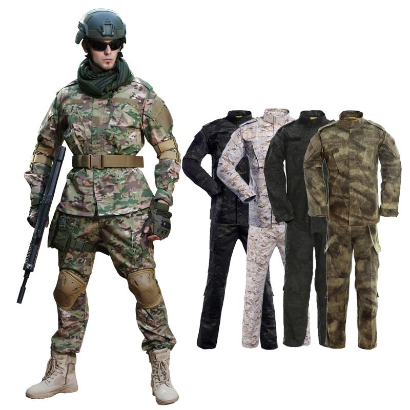 الزي العسكري التمويه الملابس التكتيكية القتالية دعوى الرجال الجيش القوات الخاصة الادسنس الجندي ميليتار معطف + مجموعة بناطيل رجالي ماكسي XS-