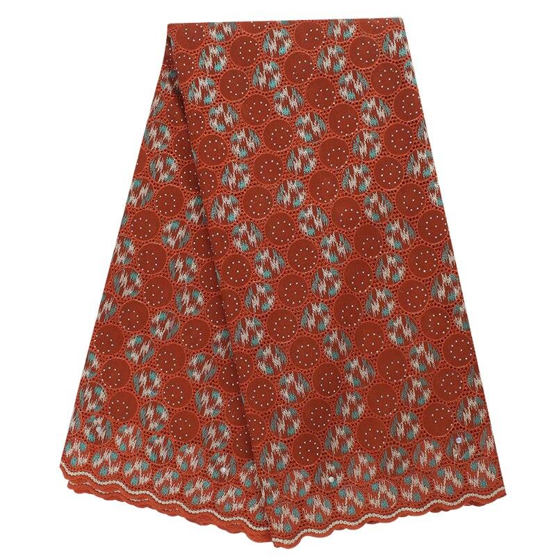 Alta qualidade swiss voile na suíça bordado algodão africano rendas tecido pesado vestido quente-fix 5 metros tecido de renda nigeriano