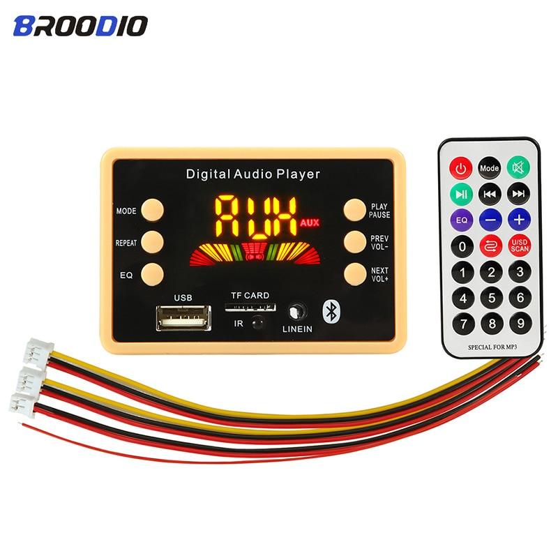 5 в 12 В автомобильный беспроводной Bluetooth 5,0 MP3 декодер плата модуль MP3 аудио плеер WMA WAV/FM радио декодирование доска с дистанционным управлением