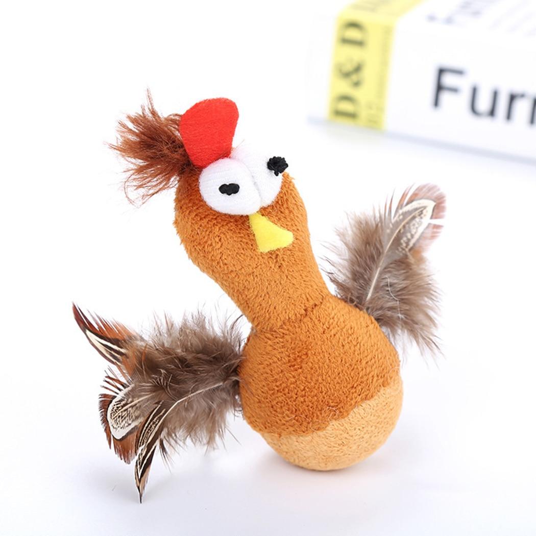 Gatos de juguete graciosos, vaso creativo, muñeca, juguete para dentición de gato, suministros para mascotas para gatos, gatitos, ratón de simulación y juguetes con forma de pollo
