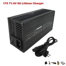 600W 100-120V / 220V-240V 71.4V 8A chargeur 17S 62.9V 8A Li-ion chargeur pour EBike batterie chargeur rapide