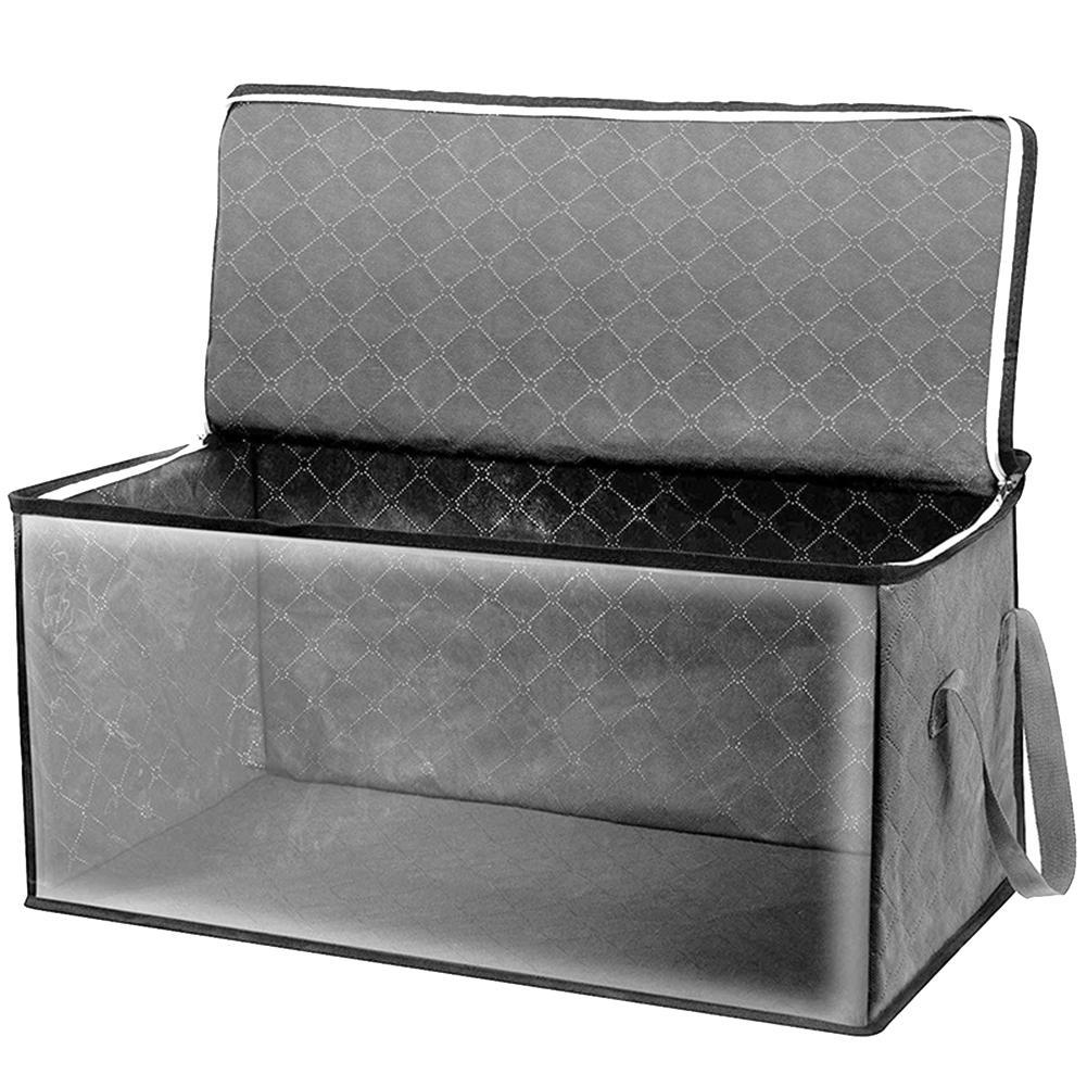 Большая емкость складное одеяло под кровать одеяло домашняя одежда сумка для хранения прочный пылезащитный Органайзер на молнии с ручкой