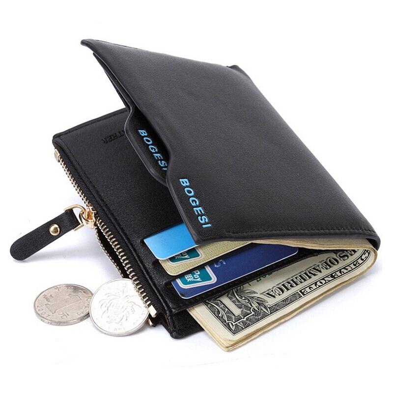 Брендовый мужской кожаный кошелек на молнии, мужской кошелек, съемные кредитные карманы для монет, мужской кожаный кошелек