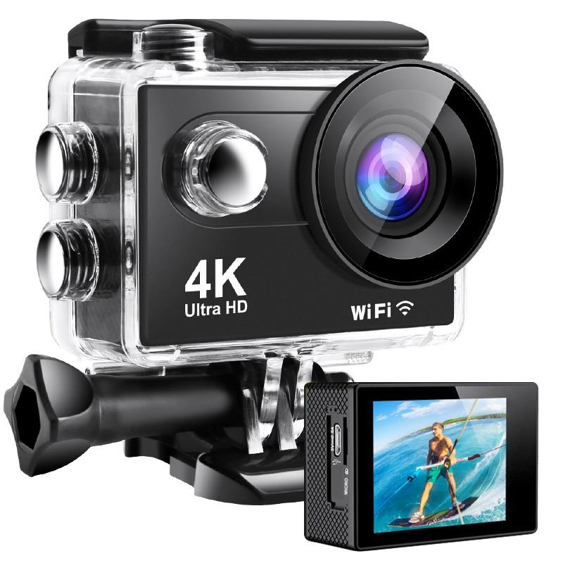 Ultra HD 4K 60fps Action Camera WiFi 20MP 2.0 Inch 30M Go Waterproof Pro Helmet Bicycle Video Recording Camera Sport DV Cameras