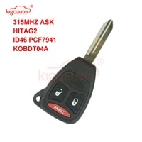 kigoauto kobdt04a remote head key 2 button with panic 315mhz large button for dodge durango magnum 2005 2006 2007