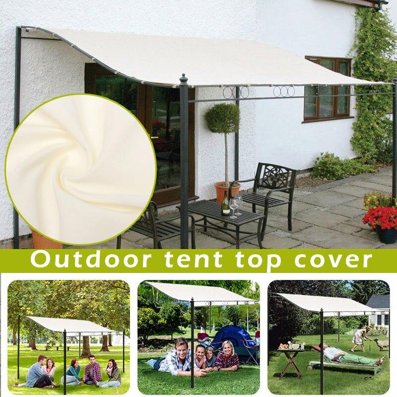 300D قماش مقاوم للماء خيمة مظلة سقف علوي الشمس المأوى القماش في الهواء الطلق غطاء يي الساخن