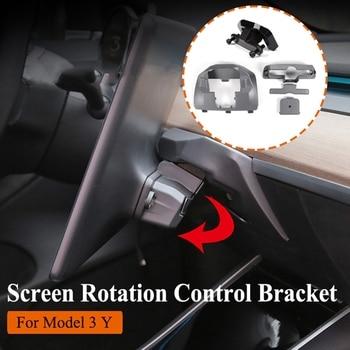 for Tesla Model 3 Y 2017-2020 Center Navigation Screen Rotation Mount Holder Turn Left and Right Car Modification