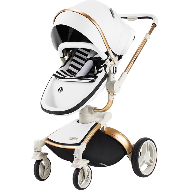 Dearest Diamond 2 in 1 High Landscape Baby Stroller Genuine Portable Baby Carriage Fold Pram Aluminum Frame High Landscape