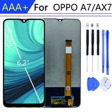 For 6.2 Inch pantalla OPPO A7 display in Mobile Phone LCDs with Frame For OPPO AX7 LCD Touch Screen