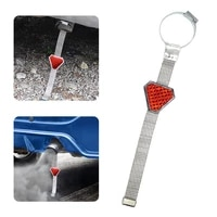 high quality triangle shaped automobile grounding chain anti static discharge belt reflective warning chain for car exhaust pipe