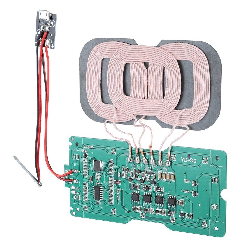 SOONHUA DIY QI estándar 3 bobina de carga módulo transmisor placa de circuito cargador inalámbrico módulo transmisor s
