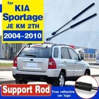 2pcs car rear window gas struts shock struts spring auto lift support for kia sportage 2004 2010 je km 2th rear trunk