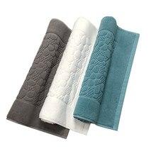 Tapis de bain en coton blanc antidérapant   Serviette de sol, motif de galets, partie hôtel maison, gris, tapis de bain, serviettes de baignoire à absorption deau