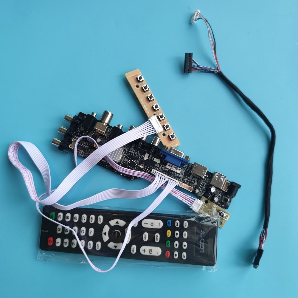 كيت ل LTN173KT01 1600x900 عرض DVB-T DVB-T2 تحكم مجلس الرقمية VGA AV التلفزيون عن سائق LED USB HDMI المتوافق لوحة