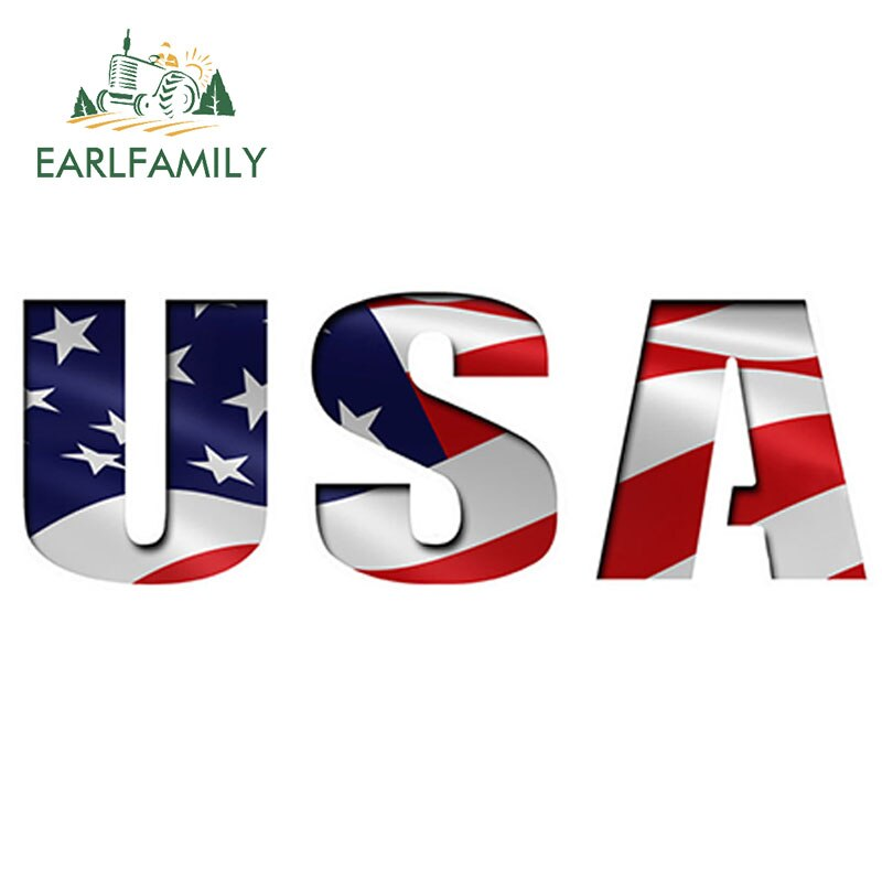 EARLFAMILY 15cm x 5cm USA AUSSCHNITT Flagge AUFKLEBER Auto Aufkleber Vinyl Auto Lkw Fenster Amerika UNS Auto Styling