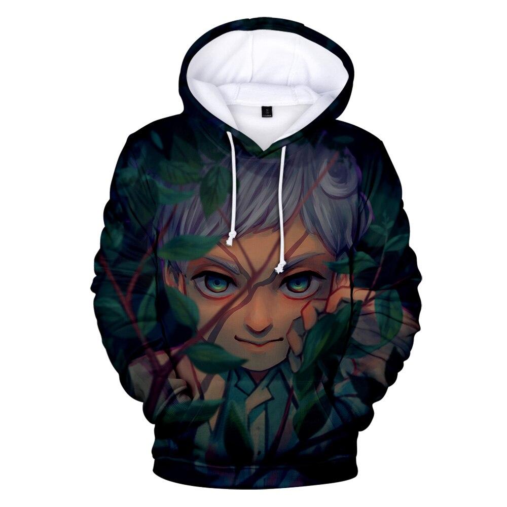 The Promised Neverland 3D Hoodies Men/Women Aikooki Hot Sale Autumn Fashion Harajuku Anime Hoodie Kawaii Sweatshirts Top