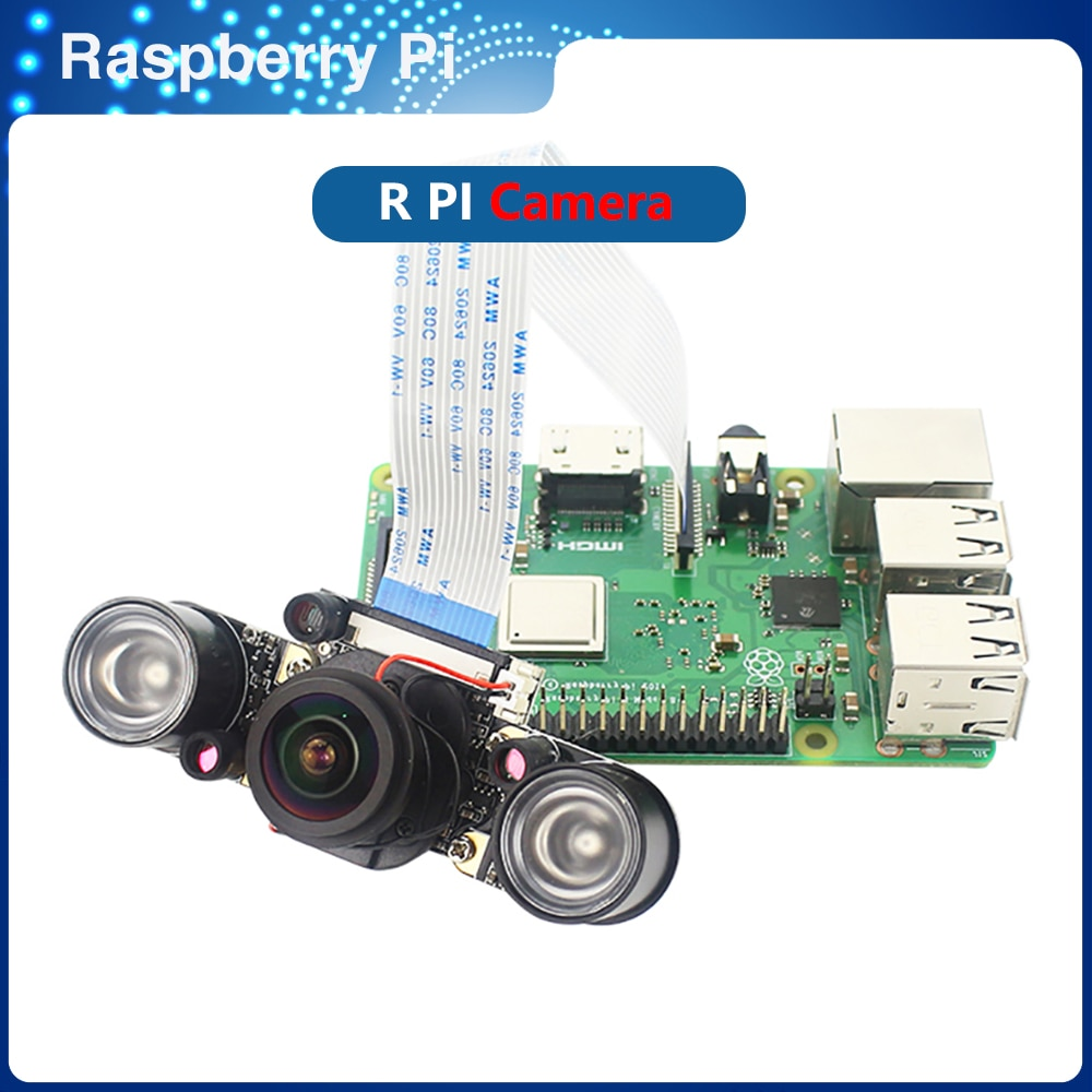 ITINIT R60 التوت Pi 3B/3B +/4 كاميرا 5MP عين السمكة التركيز قابل للتعديل للرؤية الليلية السيارات التبديل يوم ليلة IR-CUT الكاميرا
