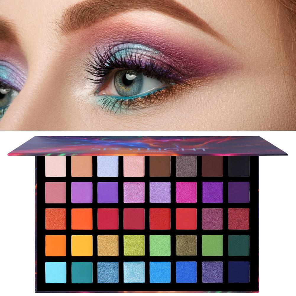 1 Uds. 40 colores supertamaño paleta de sombra de ojos juego de maquillaje colorido artista brillo pigmento mate polvo prensado sombra de ojos #