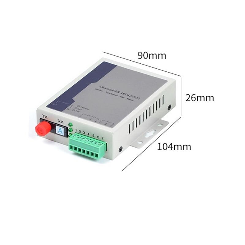 Envío Gratis 5 unids/lote de dos vías RS485/422/232 convertidor de fibra óptica módem transceptor óptico de datos transceptor de fibra óptica
