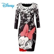 Disney Minnie souris robe Mickey femmes dame filles été Sexy moulante pansement o-cou Club de fête Mini crayon robes Vestidos