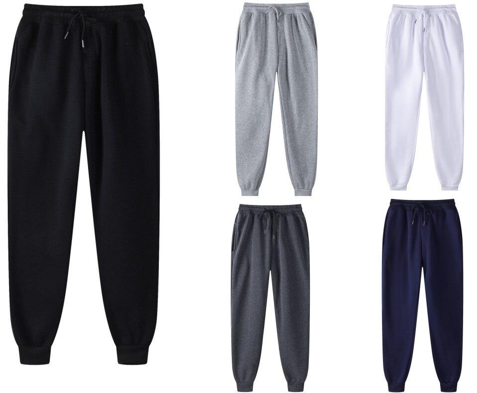 Брюки спортивные мужские и женские, Брендовые повседневные модные однотонные спортивные штаны для бега, черные белые, на осень/зиму