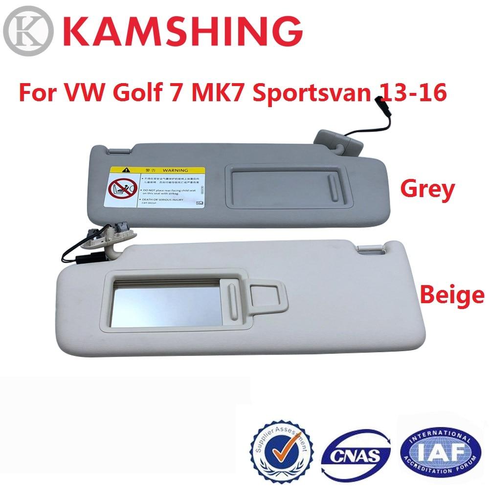 CAPQX para VW Golf 7 MK7 Sportsvan 2013-2016, protector de visera interior para coche, protector solar frontal antideslumbrante, parasol con espejo