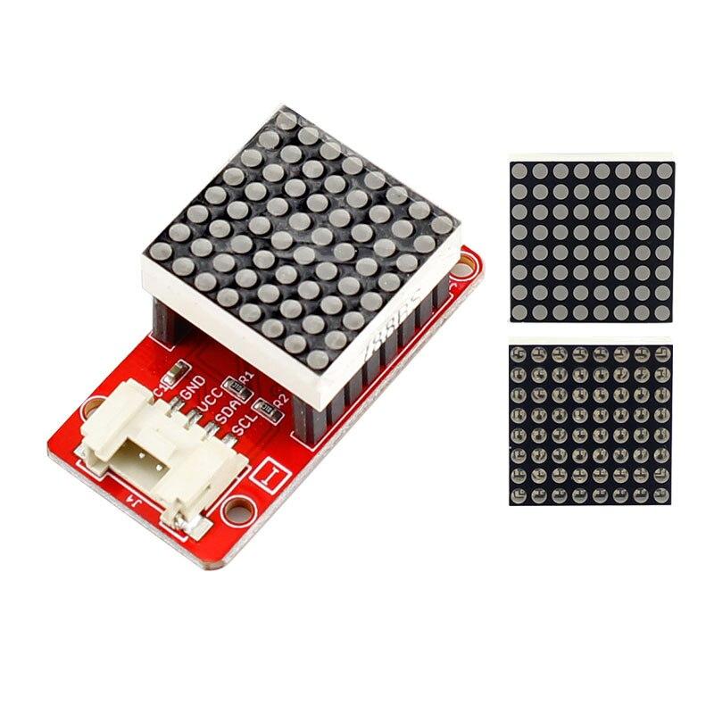 Kit electrónico Elecrow 64 LED individuales matriz LED 2,0 Módulo 8*8 LED matriz con HT16K33