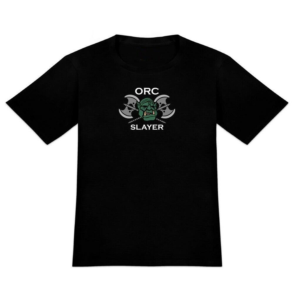 Orc Slayer fantasía juegos Rpg Axe men novedad camiseta envío gratis Tops camiseta
