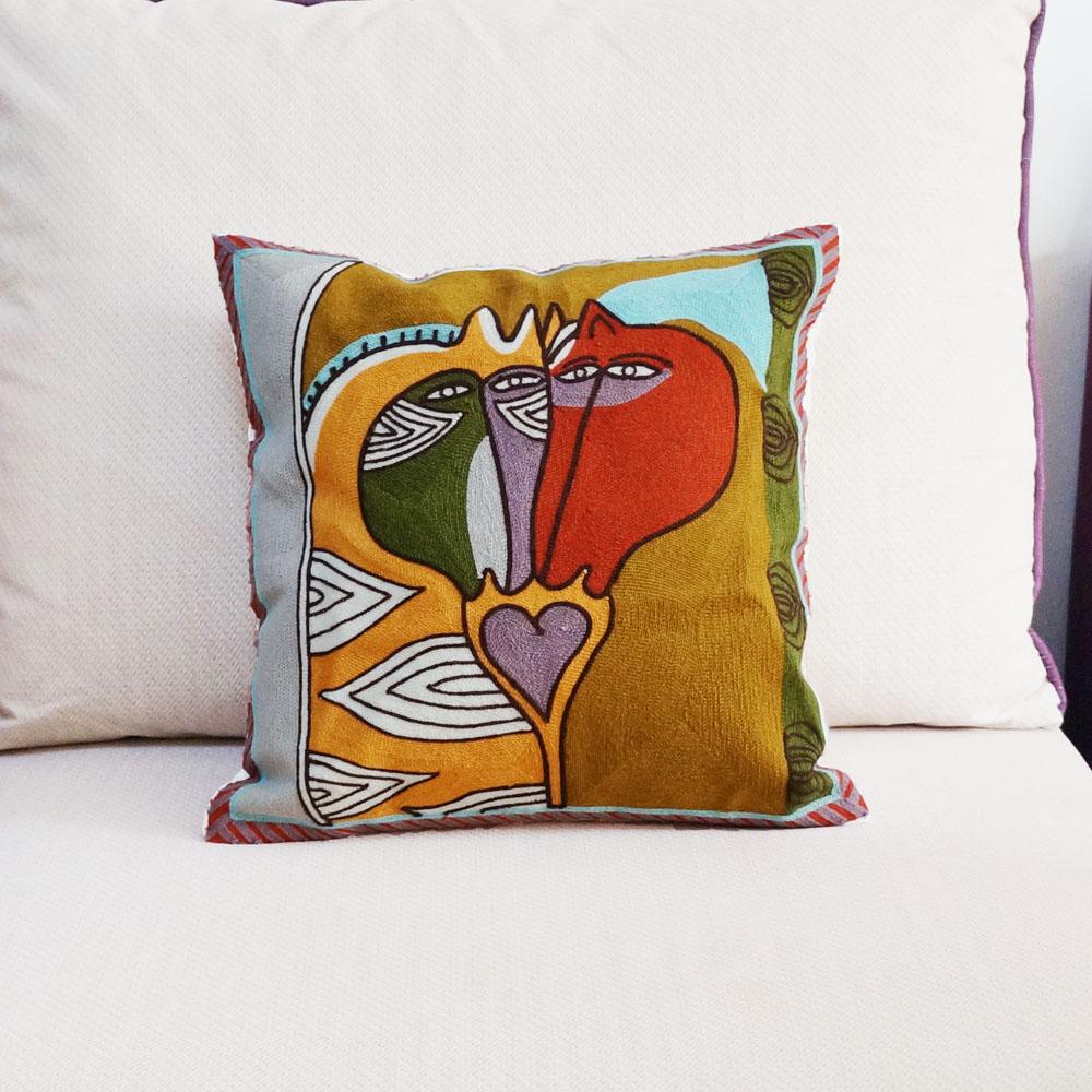 Холст Абстрактные животные искусство Вышивка 18 дюймов наволочка чехол для дивана наволочка для стула Наволочка Чехол 45x45 см без набивки