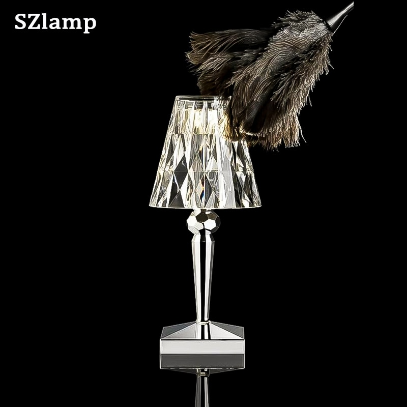 Usb Led crystal Night Light in Bedroom Rechargeable Decoration Touch Switch Bedside Lamp Room for Boyfriend Gift enlarge