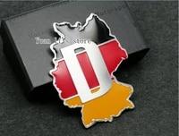1x aluminum new d letters germany flag car sticker emblem decal badge car body 60mm59mm car styling