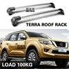 Barre transversale de charge en alliage d'aluminium avec verrouillage pour Nissan TERRA 2018 – 2020 section chauve section muette barre transversale
