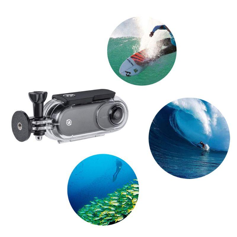 45M carcasa impermeable funda subacuática cubierta protectora para Insta360 ONE Action Camera Accessories D08A