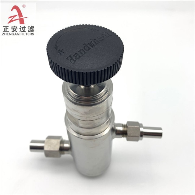 Available from stock adjustable stainless steel pressure reducing valve GF8 suitable for power plant sampling racks enlarge