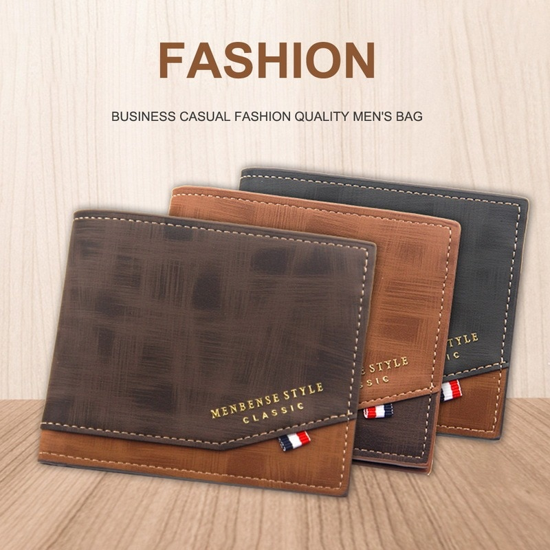 Hot sale 2021 New 1PCS High quality Fashion Mini Men's Luxury PU Leather Business Wallet Card Holder
