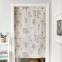 Cotton Door Curtain Modern Doorway Divider Drapes for Kitchen Bathroom Home Decoration Rod Pocket Design (No Rod Included)