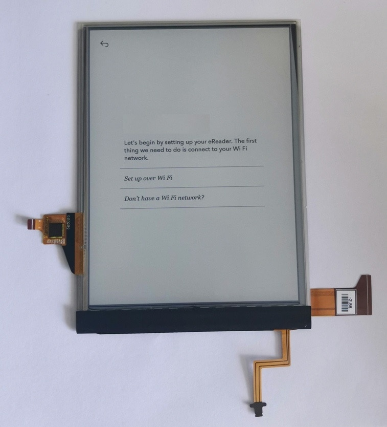 Pantalla lcd y táctil de 6 pulgadas ED060XCD U2-55 con retroiluminación para lector de libros electrónicos, pantalla táctil Ereader