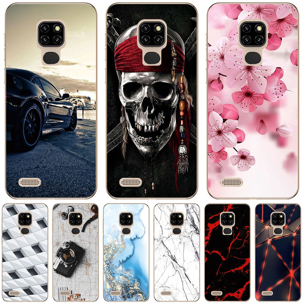 Phone Bags & Cases For Ulefone Note 7 7P Note 8P 9P Case Cover Fashion marble Inkjet Painted Shell B