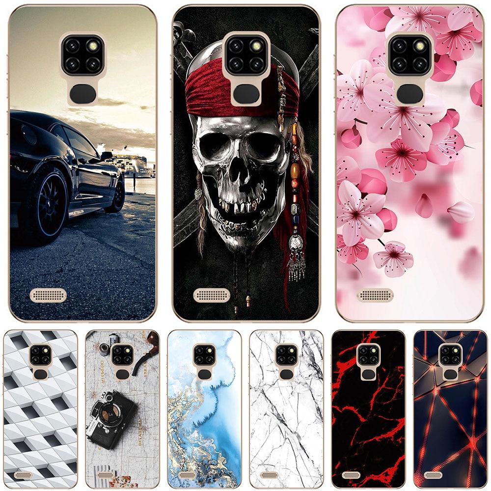 Sacos de telefone & casos para ulefone nota 7 7p nota 8p 9p caso capa moda mármore inkjet pintado concha saco