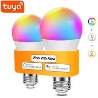Ampoule LED a couleur changeante  Tuya Smart Life  110 220V  E27  WiFi  telecommande  commande vocale  fonctionne avec Alexa  Echo Google Home