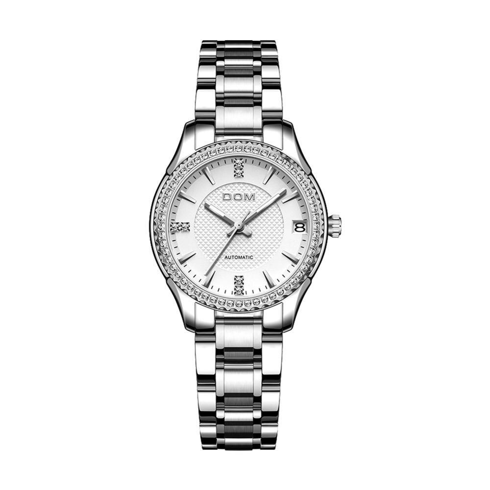 DOM automatic mechanical watchfashion luminous  couple watch business female watch sports men's watch waterproof stainless steel enlarge