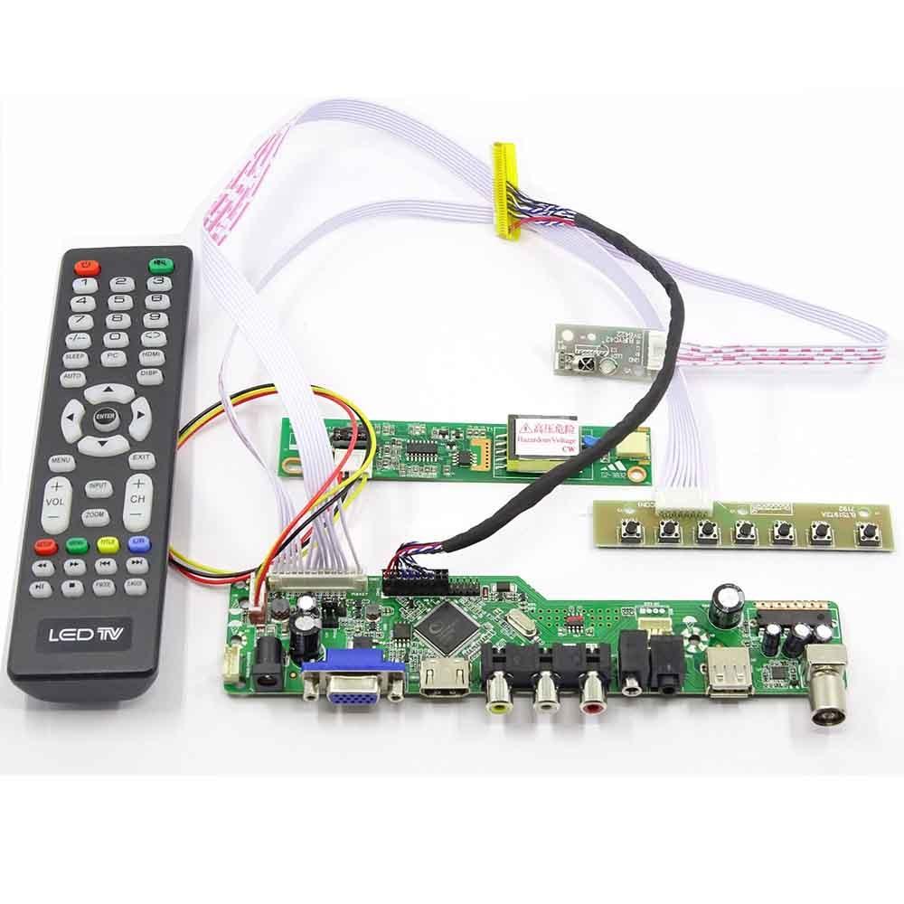Latumab nova tv + hdmi vga + usb + av lcd led controlador de tela kit placa motorista para LTN154X3-L01 para 15.4 1280x800 30 pinos lcd scree