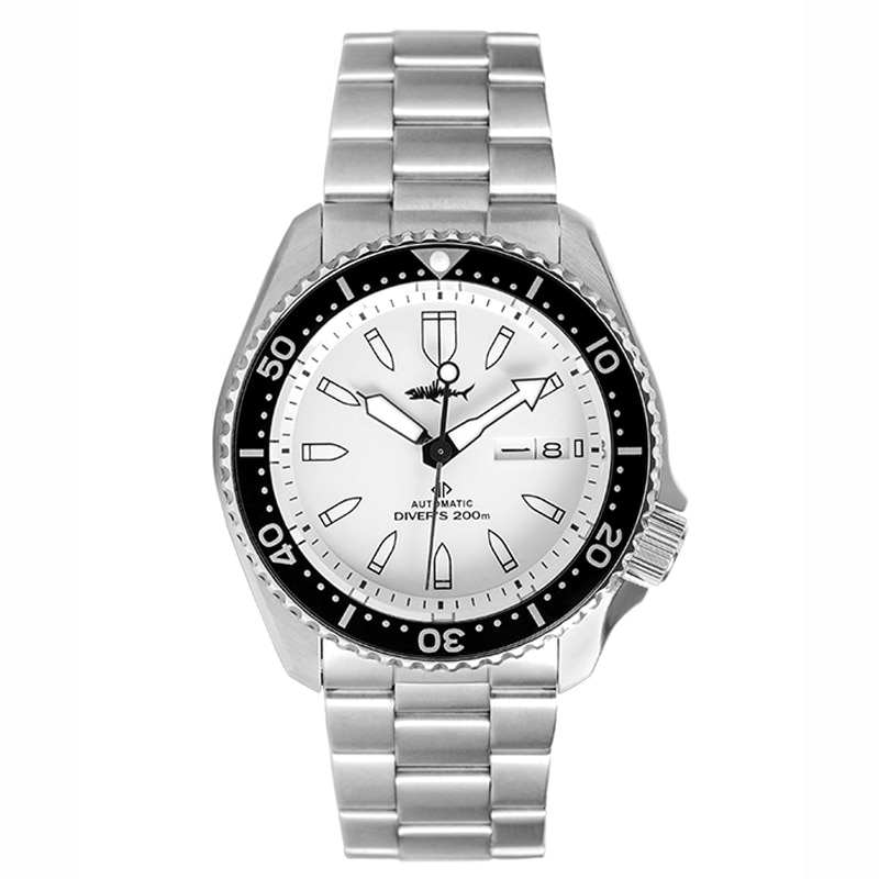 HEIMDALLR-ساعة غوص للرجال ، ساعة يد رجالية ، قرص ياقوتي أبيض ، علامات مضيئة ، مقاومة للماء حتى 200 متر ، NH36A ، حركة أوتوماتيكية ، ميكانيكية