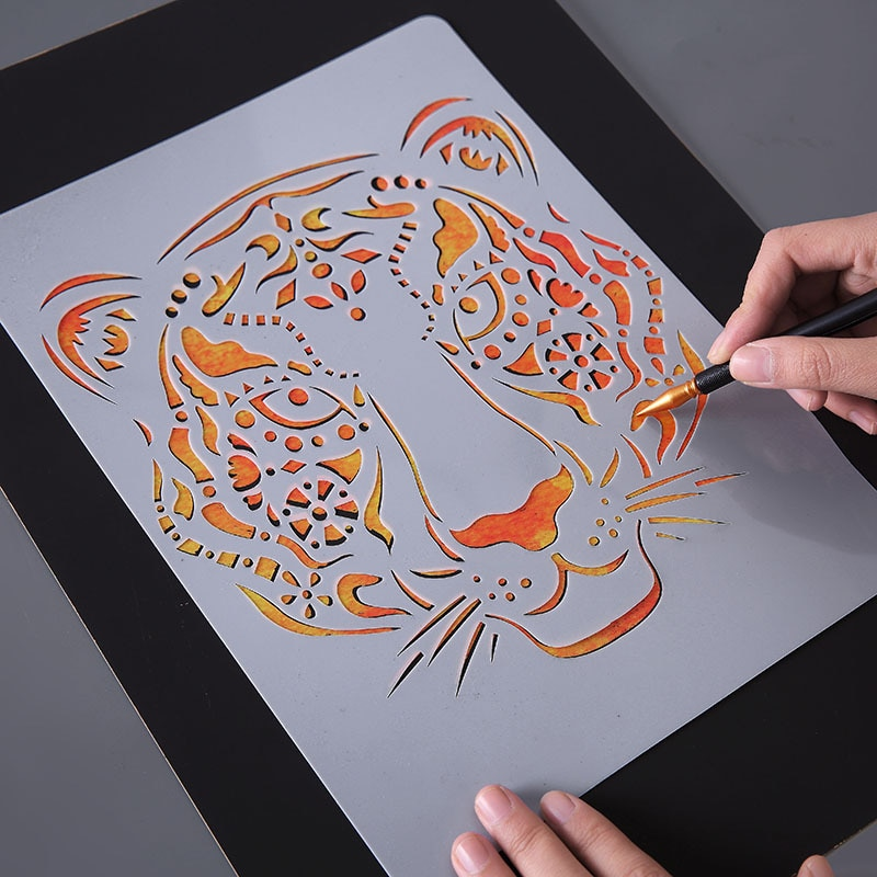New Creative DIY animal Hand Drawing Stencil Tools Photo Novelty Educational Toys Various Styles Art Supplies Toy For Baby kids