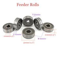 MIG Welding Wire Feeding Roll V U Knurl Groove 0.6/0.8mm 0.8/1.0mm Size 30x10x10mm LRS-775S SSJ-29 Feeder Roll